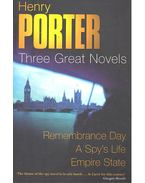 Three Great Novels – Remembrance Day; A Spy's Life; Empire State