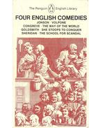 Four English Comedies – Volpone; The Way of the World; She Stoops to Conquer; The School for Scandal