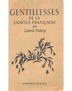 Gentillesses de la Langue Francaise