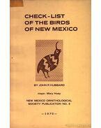 Check-List of the Birds of New Mexico (Új-Mexikó madarainak jegyzéke) - Hubbard, John P.