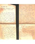 Szántó György regényei című írásának eredeti kézirata - Illés Endre