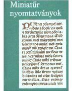 Miniatűr nyomtatványok (mini) - Janka Gyula