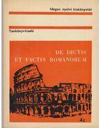 De dictis et factis romanorum - Kapitánffy István