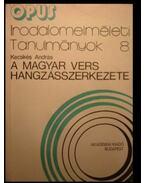 A magyar vers hangzásszerkezete