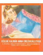 Kéglné Kalmár Anna kiállítása