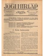 Jogi hirlap 1940. XIV. évfolyam 1-52. szám (teljes)