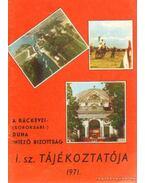 A ráckevei- (soroksári-) Duna Intézőbizotság 1971. évi tájékoztatója