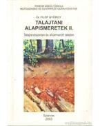 Talajtani alapismeretek II.