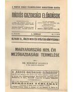 Magyarország 1929. évi mezőgazdasági termelése