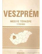 Veszprém megye térképe (1:150 000)