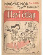 Havi étlap 1991. (hiányos) - Láng Róbert (szerk.)