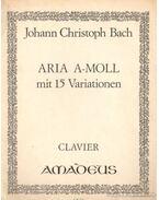 Aria A-Moll mit 15 Variationen