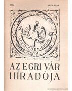 Az egri vár híradója 1986. 19-20. szám