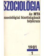 Szociológia 1981. évf. (teljes)