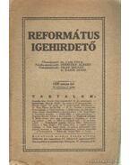 Református Igehirdető 1930. május 5. szám