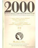 2000 Irodalmi és Társadalmi havi lap MCMLXXXIX július