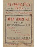 A Család naptár 1935. évre - Szakács- és süteménykönyv