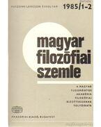 Magyar filozófiai szemle 1985 (teljes)