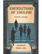 Foundations of English for foreign students