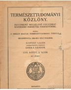 Természettudományi Közlöny 1925. március 817. füzet