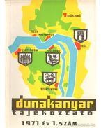 Dunakanyar tájékoztató 1971. év 1. szám
