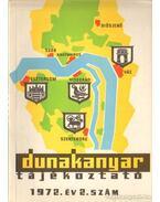 Dunakanyar tájékoztató 1972. év 2. szám