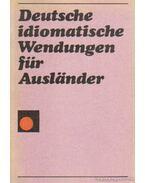 Deutsche idiomatische Wendungen für Auslander
