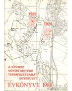 A KPVDSZ Vörös Meteor Természetbarát Egyesület Évkönyve 1988.