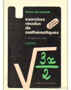 Exercices résolus de mathématiques nouveau programme 1981