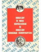 Oroszlány és vidéke bányászatának és Oroszlány városának eseménynaptára