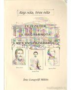 Fejezetek a magyarnóta két évszázadából