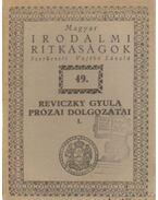 Reviczky Gyula prózai dolgozatai I.