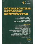 Közigazgatási-gazdasági döntvénytár 1992. április 4.