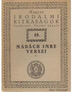 Madách Imre versei I
