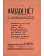 Váradi Hét 1917. október 12. 1. szám