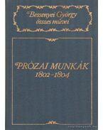 Prózai munkák 1802-1804