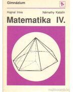 Matematika IV.