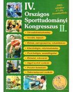 IV. Országos Sporttudományi Kongresszus II.