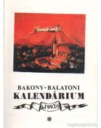 Bakony-Balatoni kalendárium 1992