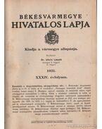 Békésvármegye hivatalos lapja 1931. XXXIV. évfolyam (teljes)