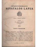 Békésvármegye hivatalos lapja 1933. XXXVI. évfolyam (teljes)