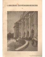 I. Országos Ügyvédkongresszus 1962. augusztus 24-25