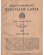 Békésvármegye hivatalos lapja 1932. XXXV. évfolyam (teljes)