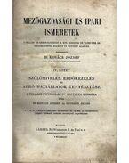 Mezőgazdasági és ipari ismeretek IV. kötet - Szuhács János, Kovács József