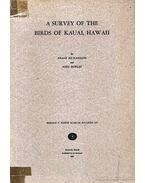 A Survey of the Birds of Kauai, Hawaii