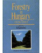 Forestry in Hungary 1920-1985.