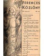 Ferences Közlöny 1939. XIX. évfolyam I-XII. szám
