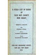 A Field List of Birds of Cape May County, New Jersey
