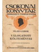 Oláh Gábor válogatott költeményei