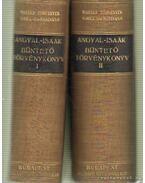 Büntető törvénykönyv I-II. kötet - Dr. Angyal Pál, Dr. Isaák Gyula